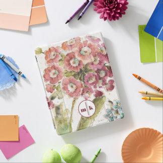 Add Your Monogram | Pink Primrose iPad Cover