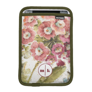 Add Your Monogram | Pink Primrose iPad Mini Sleeve