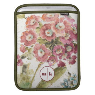 Add Your Monogram | Pink Primrose iPad Sleeve