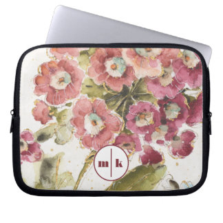 Add Your Monogram | Pink Primrose Laptop Sleeve