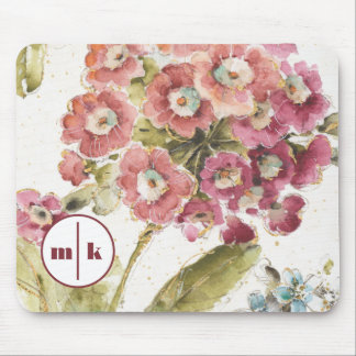 Add Your Monogram | Pink Primrose Mouse Mat