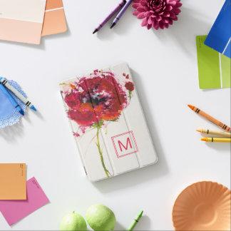Add Your Monogram | Poppy on White iPad Mini Cover