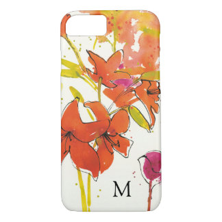 Add Your Monogram   The Plum of Patty iPhone 8/7 Case