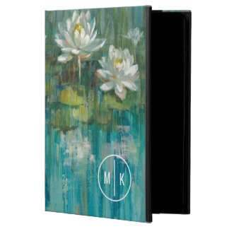 Add Your Monogram | Water Lily Pond iPad Air Case