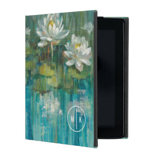 Add Your Monogram | Water Lily Pond iPad Case