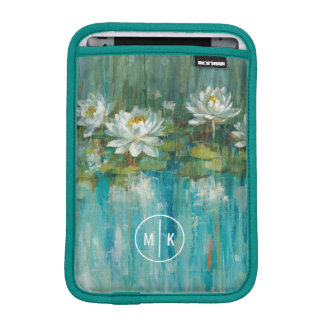 Add Your Monogram | Water Lily Pond iPad Mini Sleeve