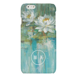 Add Your Monogram | Water Lily Pond iPhone 6 Plus Case