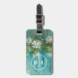 Add Your Monogram | Water Lily Pond Luggage Tag