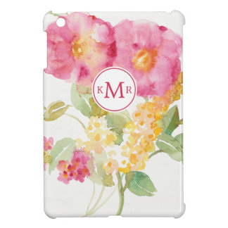 Add Your Monogram | White Daisy on Blue iPad Mini Cover