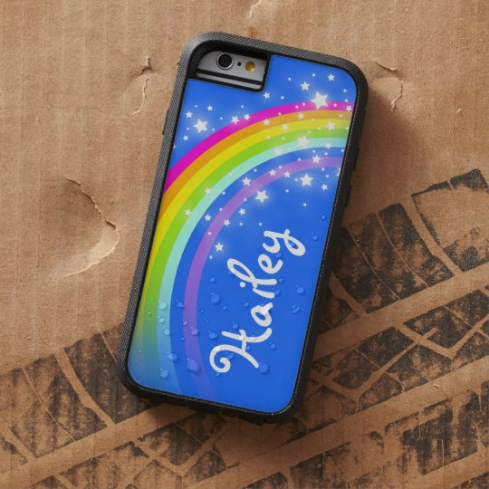 Add your name 5 letter rainbow blue iphone