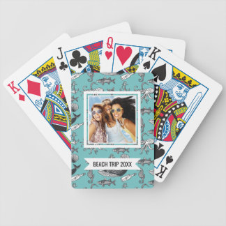 Add Your Name | All Of The Sea Pattern Bicycle Playing Cards