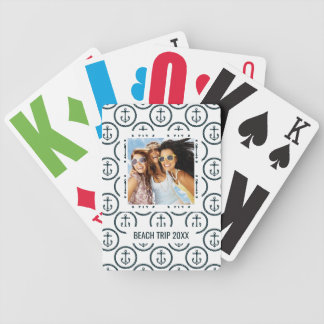 Add Your Name | Anchor Buttons Pattern Bicycle Playing Cards