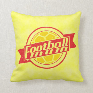 Add Your Name And Number, Football Mum Pillow