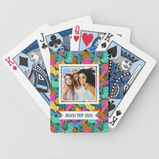 Add Your Name | Animal Silhouettes Pattern Bicycle Playing Cards