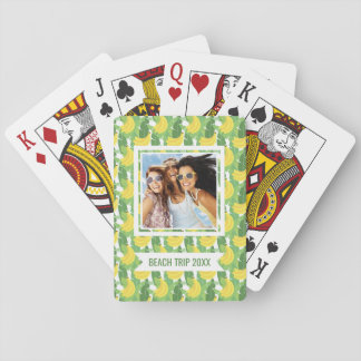Add Your Name | Banana Leaves And Fruit Pattern Playing Cards