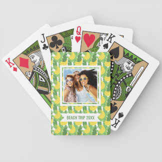 Add Your Name | Banana Leaves And Fruit Pattern Poker Deck