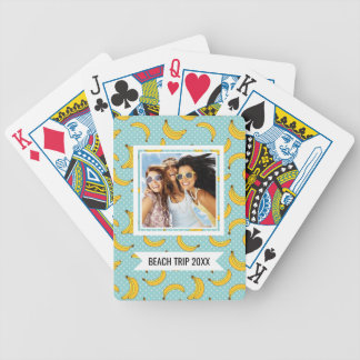 Add Your Name | Bananas And Polk Dots Bicycle Playing Cards