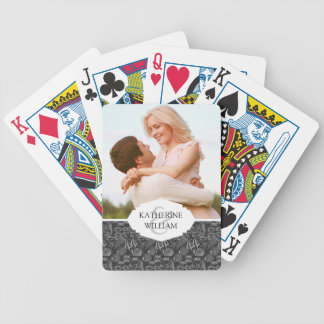 Add Your Name | Black Sea Pattern Bicycle Playing Cards
