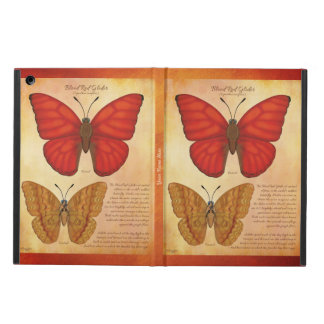 Add Your Name Blood Red Glider Butterfly iPad Air Cover