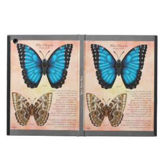 Add Your Name Blue Morpho Butterfly iPad Air Cover