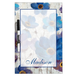Add Your Name | Bold Anemones Dry Erase Board
