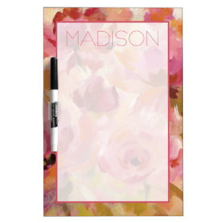 Add Your Name | Bouquet of Roses Dry Erase Board