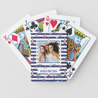 Add Your Name | By The Sea Pattern Bicycle Playing Cards