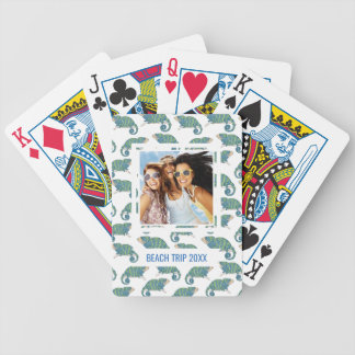 Add Your Name | Chameleon Pattern Poker Deck