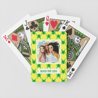 Add Your Name | Cute Cartoon Frogs Bicycle Playing Cards