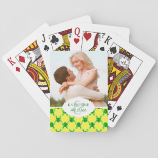 Add Your Name   Cute Cartoon Frogs Playing Cards