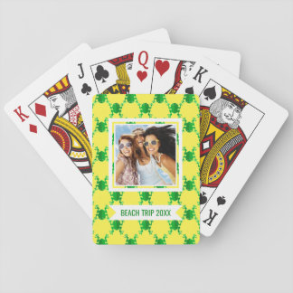 Add Your Name | Cute Cartoon Frogs Poker Deck