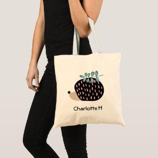 Add Your name Cute Hedgehog Tote Bag