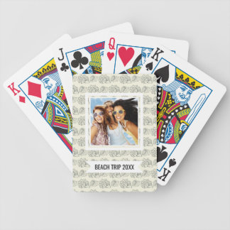 Add Your Name | Decorative Shells Pattern Bicycle Playing Cards