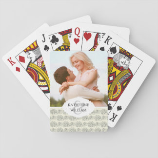 Add Your Name | Decorative Shells Pattern Playing Cards