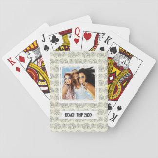 Add Your Name | Decorative Shells Pattern Poker Deck