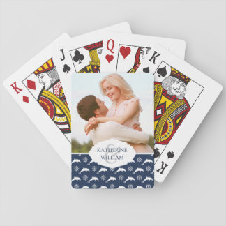 Add Your Name | Dolphins On Parade Pattern Playing Cards