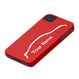 """""""add your name"""" G35 Sedan w/ vibrant red Case-Mate iPhone 4 Cases"""