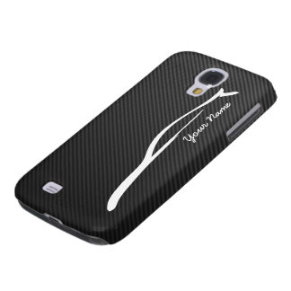 Add your name - G35 white silhouette logo Galaxy S4 Case