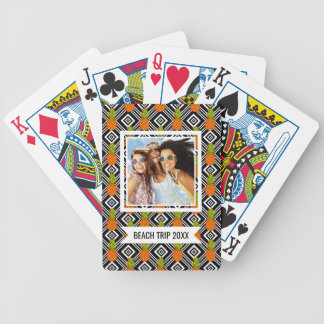 Add Your Name   Geometric Pineapples Bicycle Playing Cards