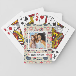 Add Your Name | Marine Life Pattern Playing Cards