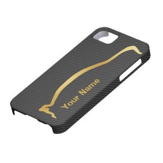 Add your name - Mitsubishi EVO gold silhouette iPhone 5 Case