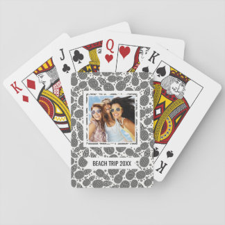 Add Your Name   Monochrome Pineapples Playing Cards