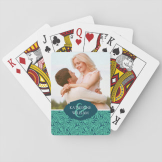 Add Your Name | Monstera Tropical Leaf Pattern Playing Cards