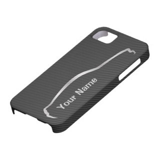 """add your name"" Mustang Gray Silhouette Logo Case For The iPhone 5"