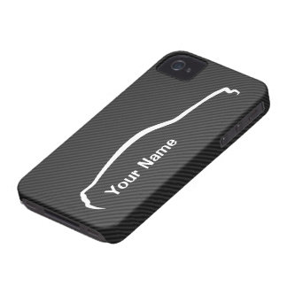 """add your name"" Mustang White Silhouette Logo Case-Mate iPhone 4 Case"