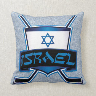 Add Your Name & Number Isreal Ice Hockey Pillow