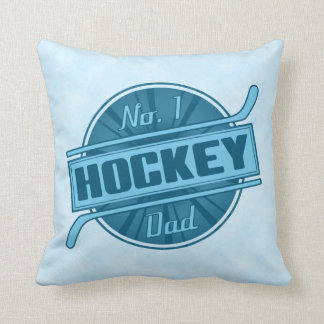 Add Your Name & Number, No. 1 Hockey Dad Pillow