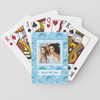 Add Your Name | Ocean Blue Pattern Playing Cards