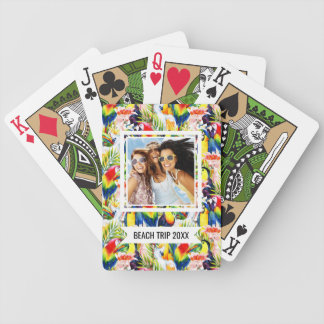 Add Your Name | Parrots And Palm Leaves Bicycle Playing Cards