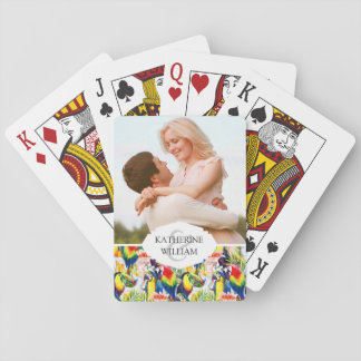 Add Your Name | Parrots And Palm Leaves Playing Cards